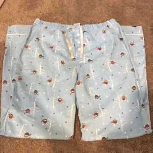 Old Navy Owl Christmas PJs
